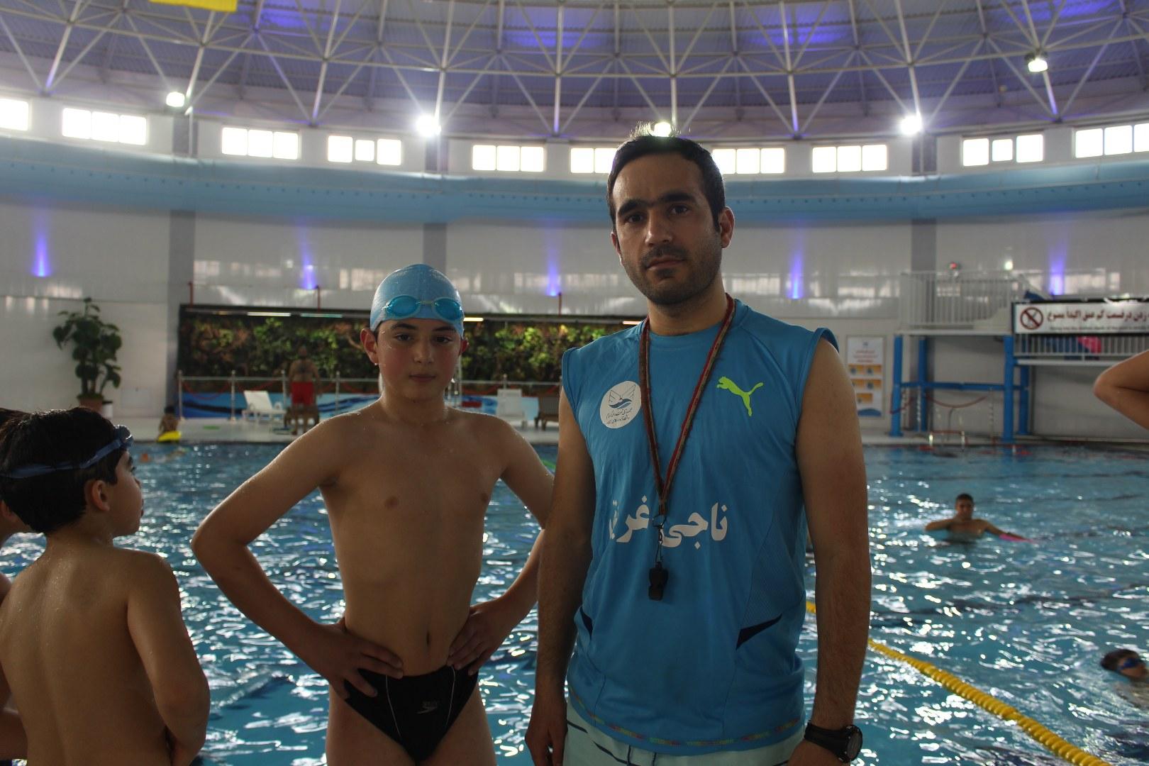 وزیری ناجی استخر - معراج خدادادی شناگر